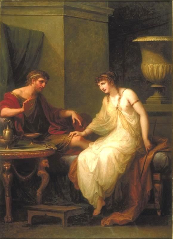 Angelica Kauffmann 1786 Ulysse et Circe Bayly Art Museum of University of Virginia Charlottesville