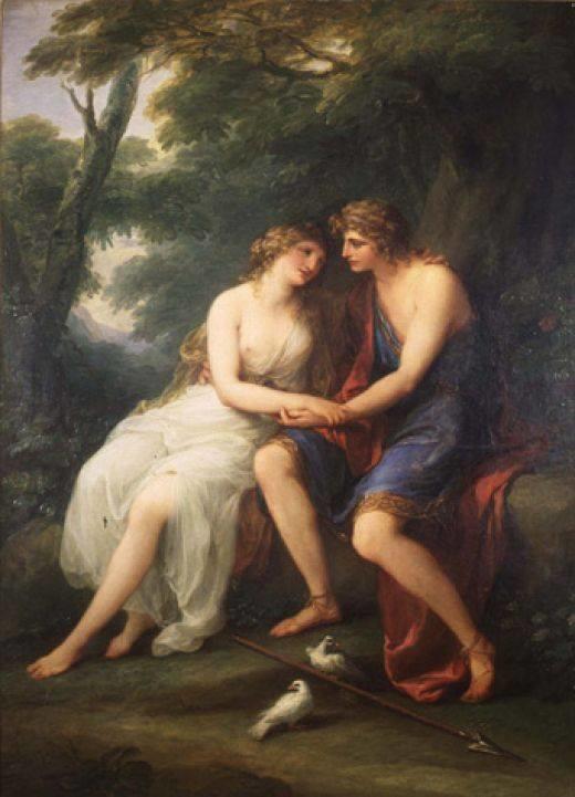 Angelica Kauffmann 1786 Venus et Adonis Bayly Art Museum of University of Virginia Charlottesville