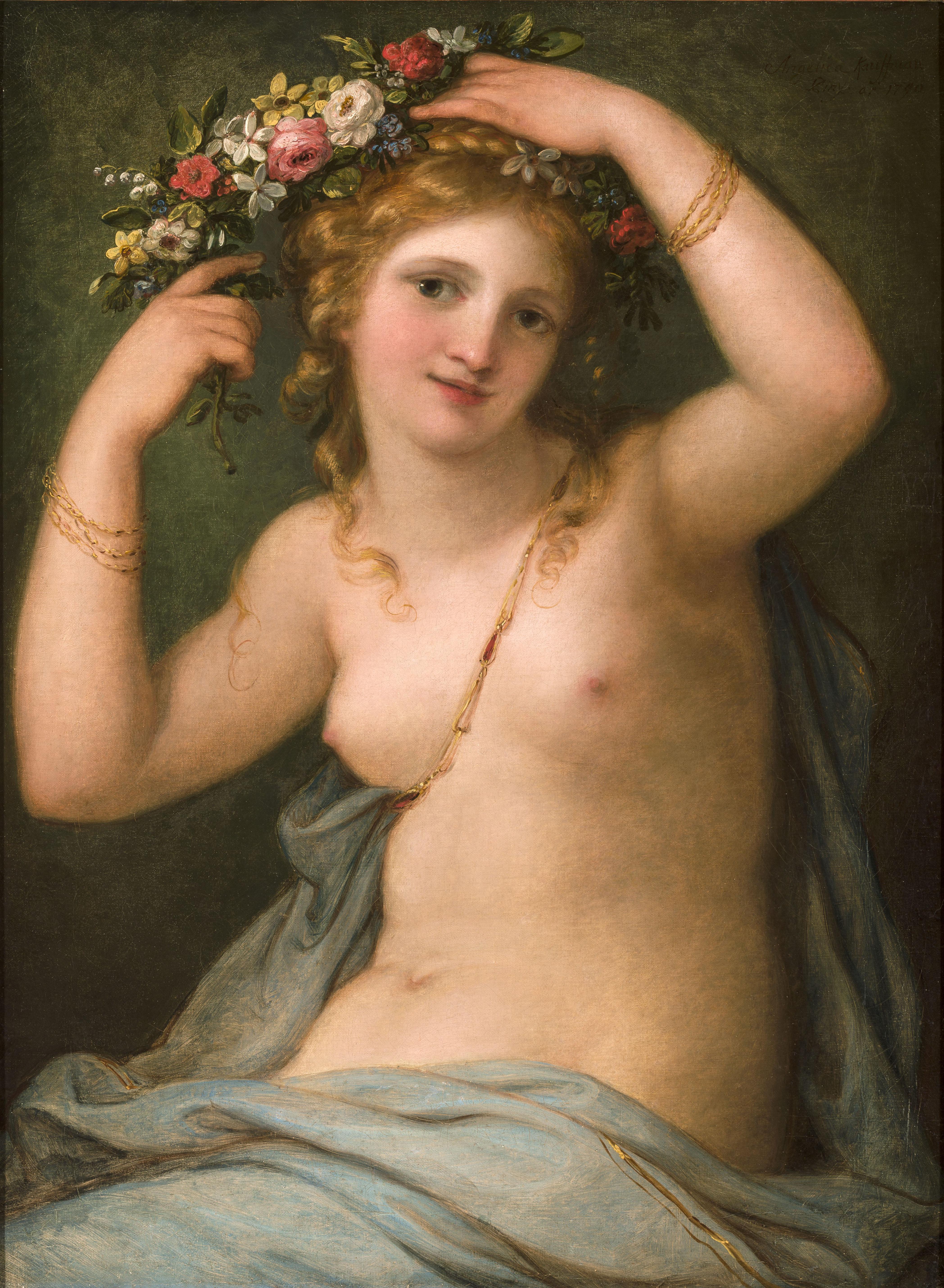 Angelica Kauffmann 1790 Flora coll priv