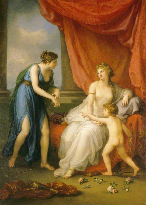 Angelica Kauffmann 1794a Euphrosyne complaining to Venus of the Wound caused by Cupid's Dart Attingham Park, Shropshire (c) National Trust