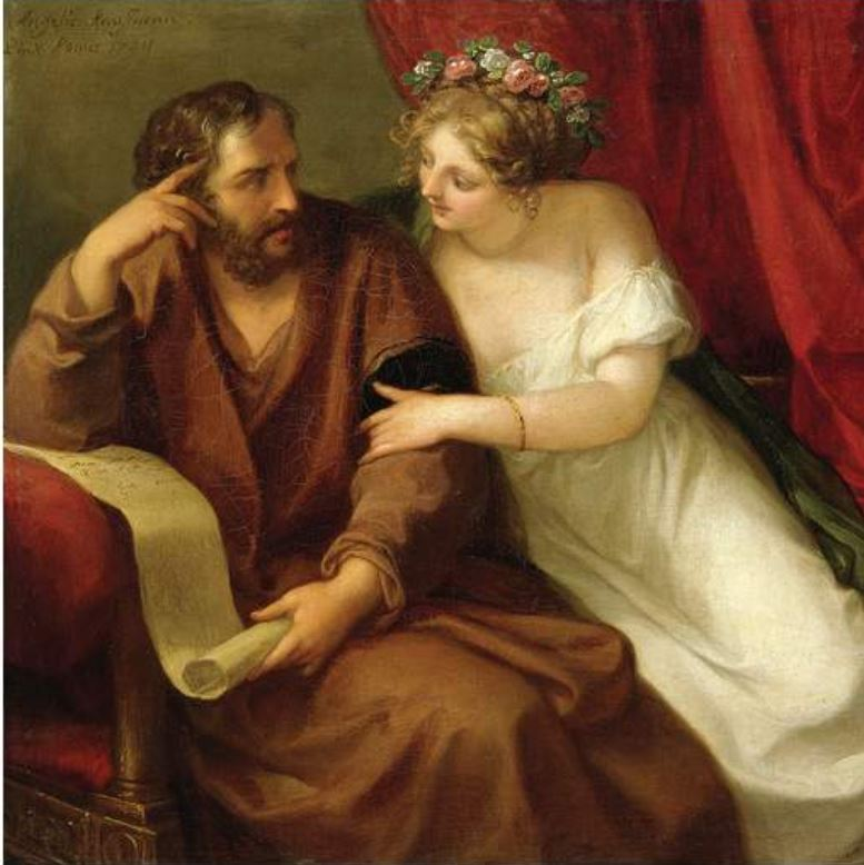 Angelica Kauffmann 1794b Phryne Seducing The Philosopher Xenokrates coll priv