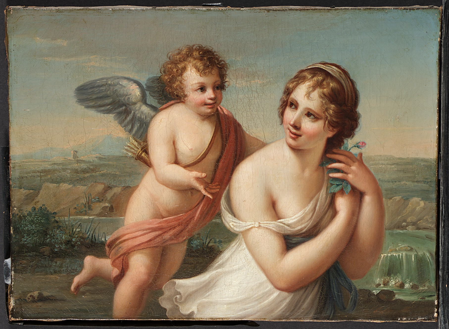 Angelica Kauffmann (style) 1750-75 The Temptation of Eros MET