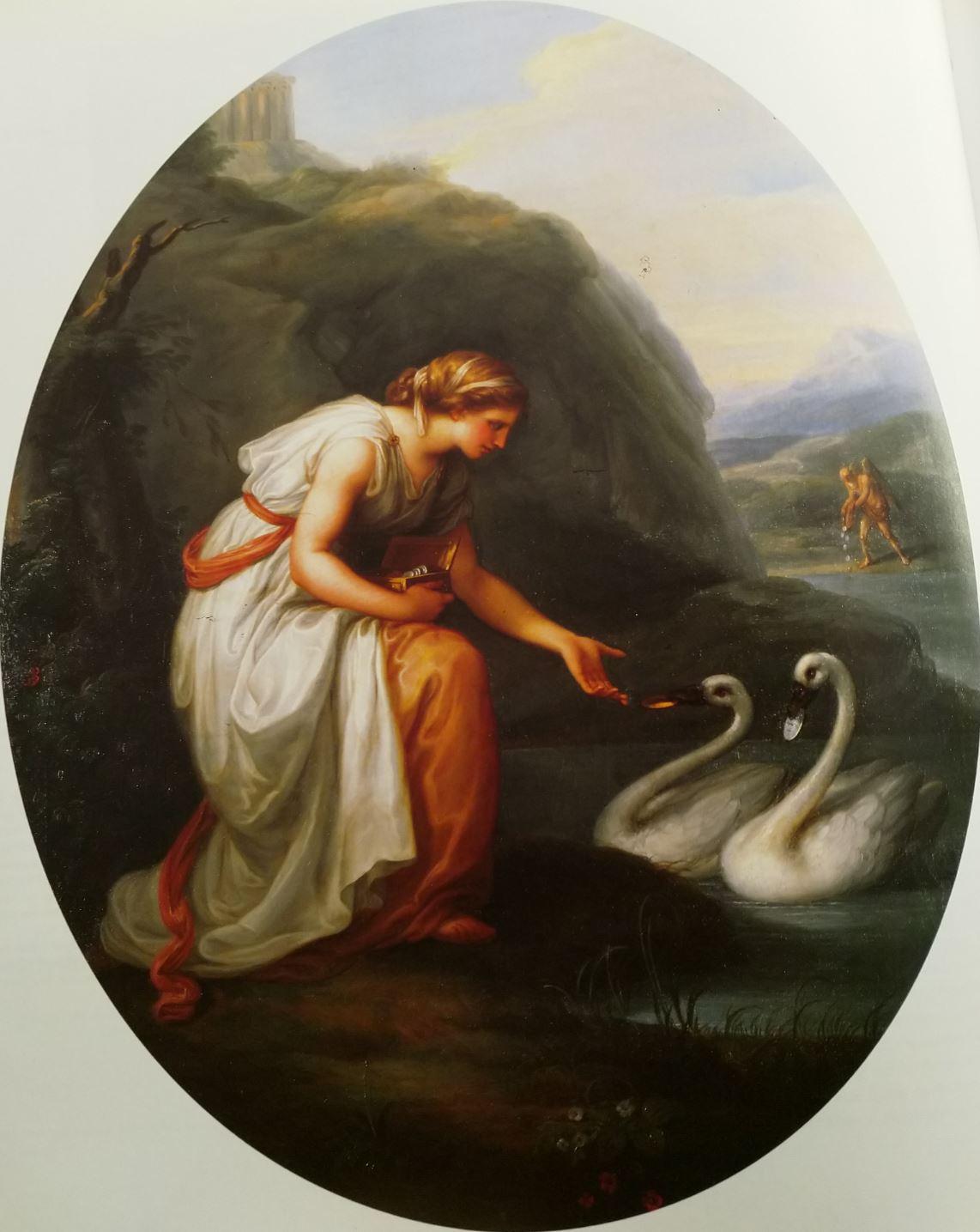 Angelica Kaufmann 1783b Immortalia, la nymphe de l'Immortalite Schloss Gottorf Schleswig-Holsteinisches Landesmuseum