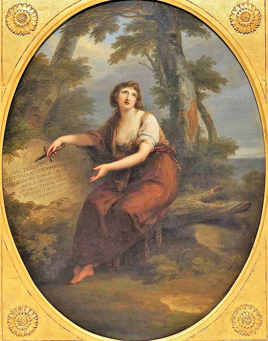 Angelica Kaufmann 1783b The-deserted-Costanza Queensland Art Gallery Brisbane.