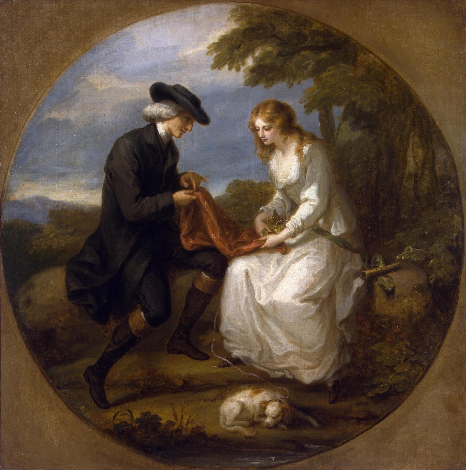 Angelika Kauffmann 1777 apres Insane Maria Ermitage Saint Petersbourg