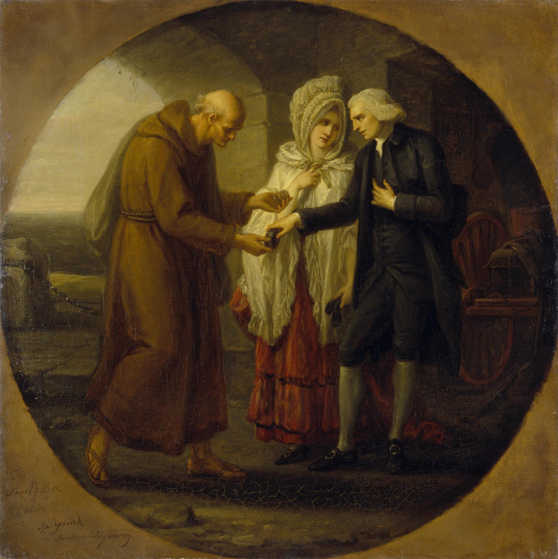 Angelika Kauffmann 1777 apres Monk from Calais Ermitage Saint Petersbourg