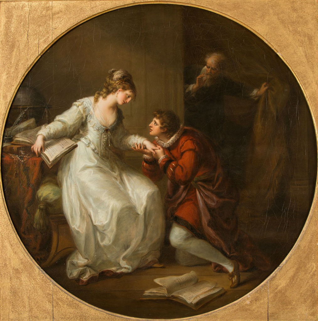 Angelika Kauffmann 1778 ca Abelard Soliciting the Hand of Eloise Burghley House