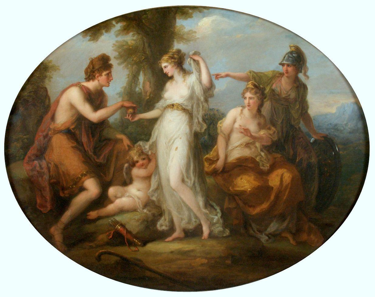 Angelika Kauffmann 1778 ca Le jugement de Paris pour Bowles Museo de Arte de Ponce Puerto Rico