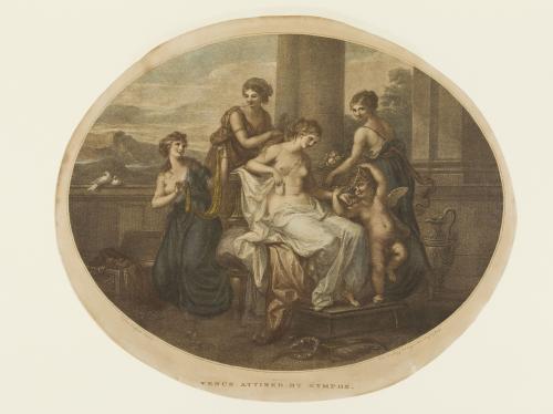 Angelika Kauffmann 1778 caVenus attiree par les Graces pour Bowles Museo de Arte de Ponce Puerto Rico