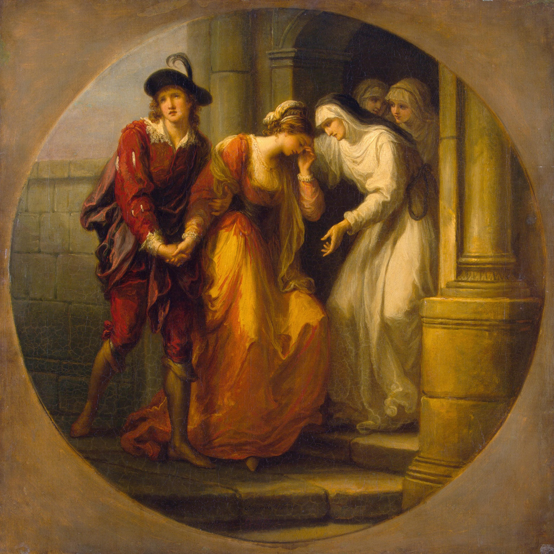 Angelika Kauffmann 1780 avant Parting of Abelard and Heloise Ermitage Saint Petersbourg