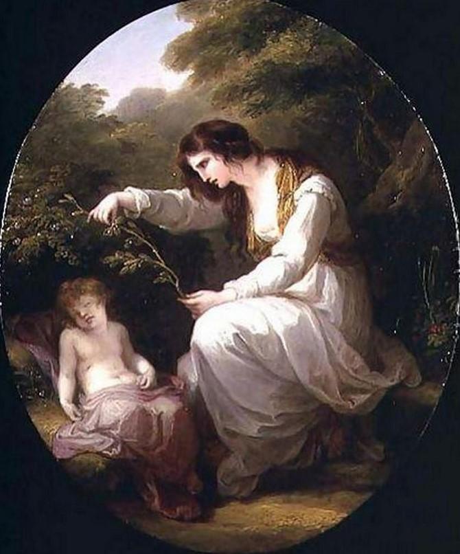 Angelika Kauffmann 1782 dec pour Bowles Cleone pleurant devant le corps de son enfant