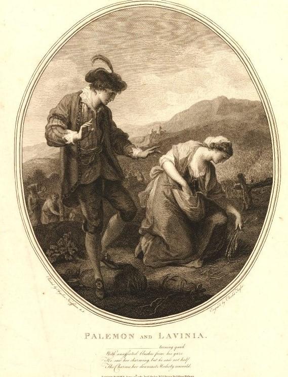 Angelika Kauffmann 1782 gravure de Bartolozzi Palemon Lavinia