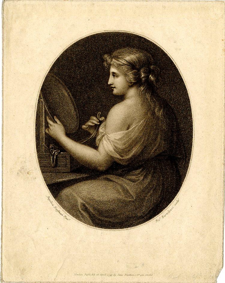 Angelika Kauffmann 1789 La vanite , gravure de Bartolozzi 1793 British Museum