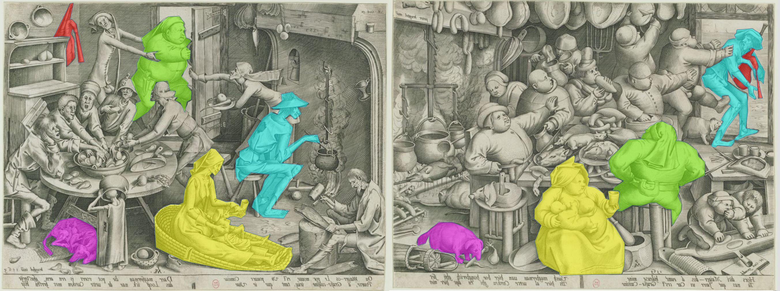 Brueghel cuisine maigre grasse schema inverse