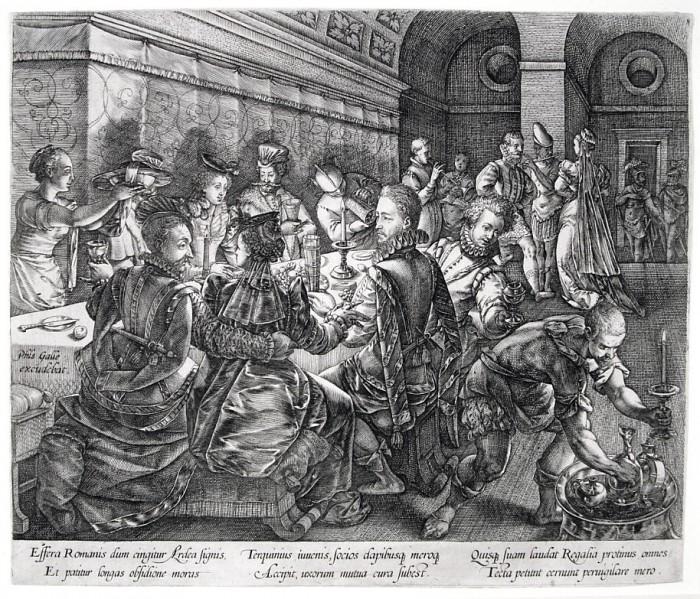 Goltzius 1578 Le banquet de Tarquin