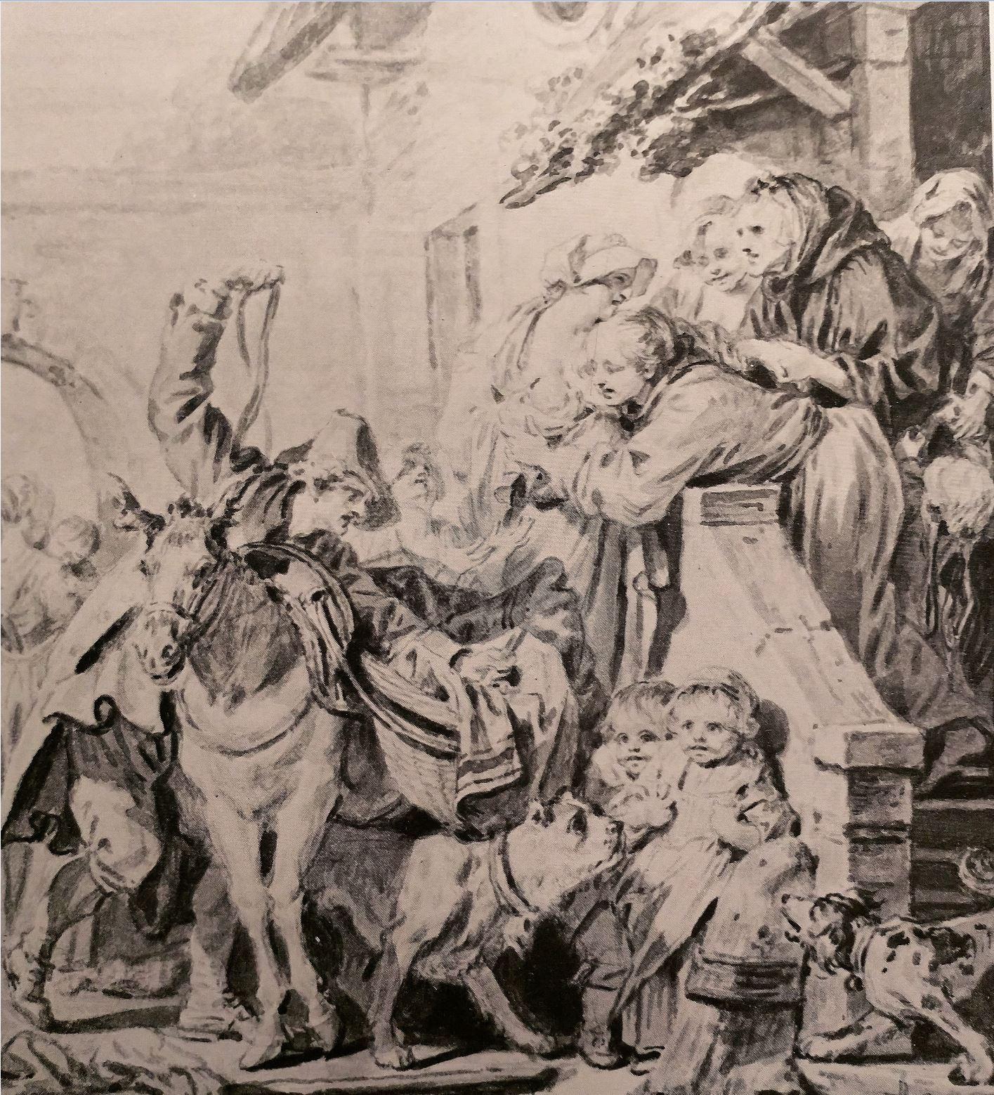 Greuze 1767 Le depart en nourrice anciennement Simon Norton Foundation