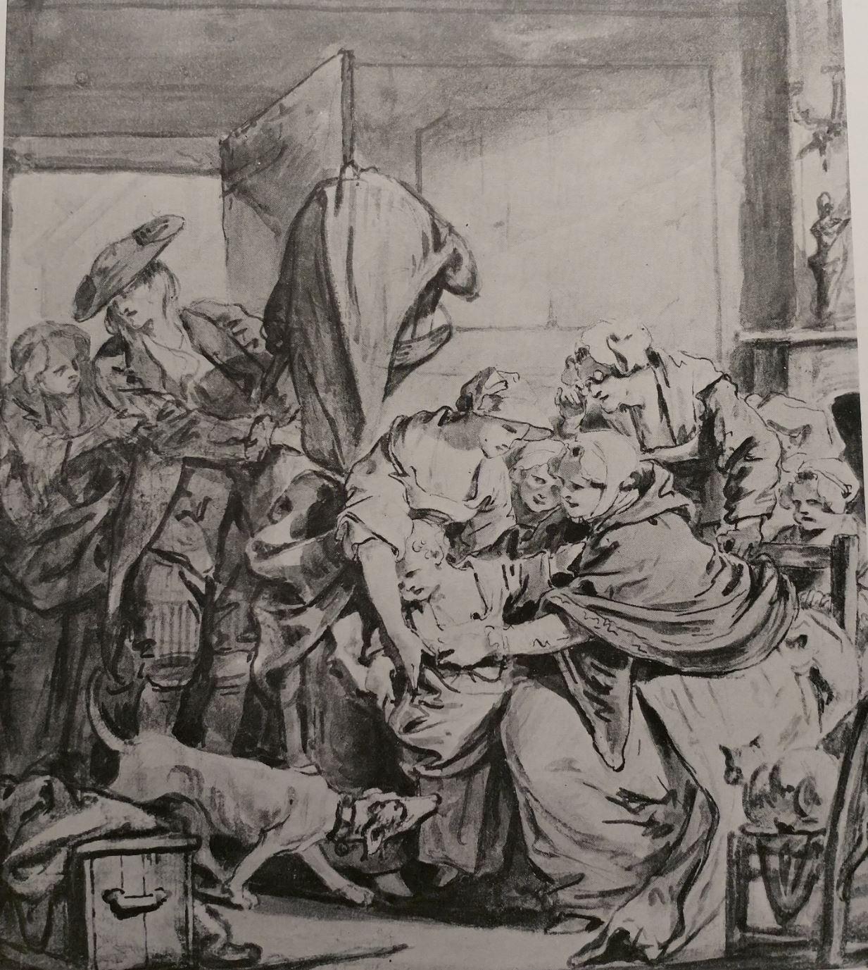Greuze 1767 Le retour de nourrice anciennement Simon Norton Foundation