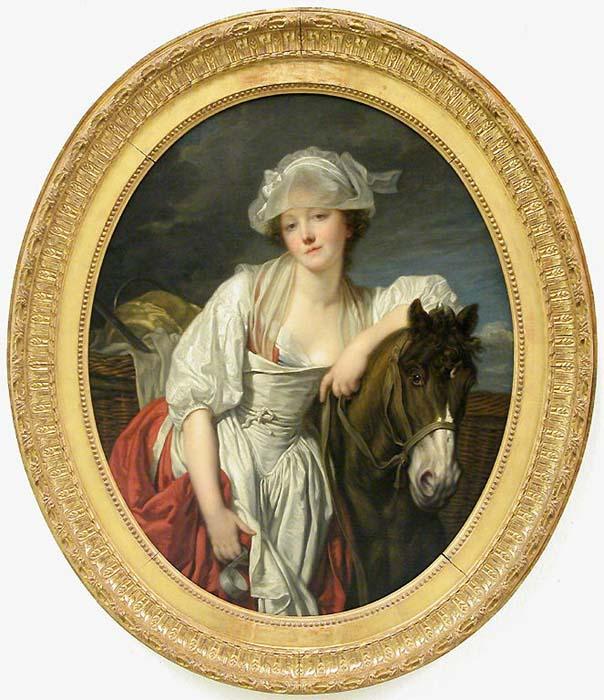Greuze 1772-73 La laitiere Louvre Faux pendant de La Cruche cassee