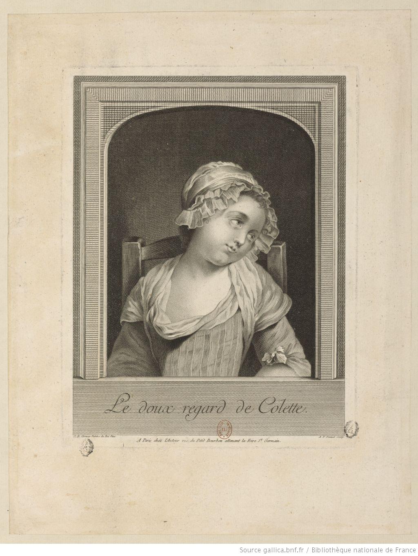 Greuze 1778 Le_doux_regard_de_Colette gravure Dennel_Antoine-Francois Gallica