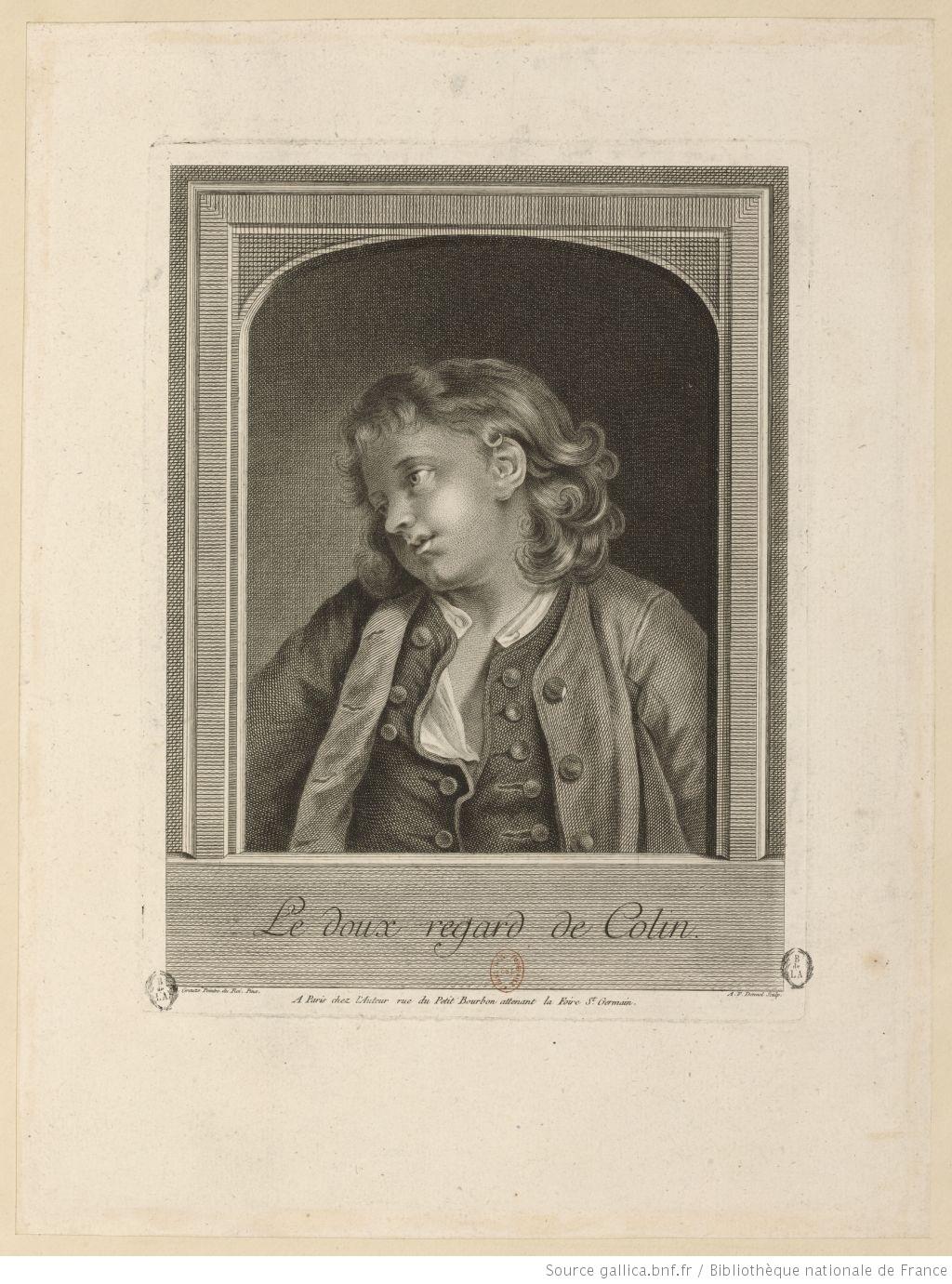 Greuze 1778 Le_doux_regard_de_Colin gravure Dennel_Antoine-Francois Gallica