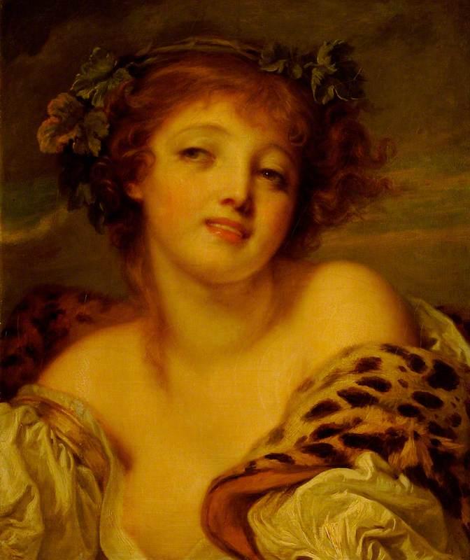 Greuze, Jean-Baptiste, 1725-1805; A Bacchante