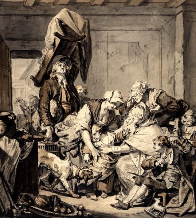 Greuze Le retour de nourrice British Museum 47,7 x 43,4