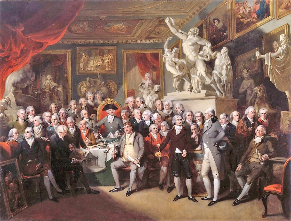 Henry Singleton, 1795, Les membres de la Royal Academy en assemblee generale, Royal Academy Collections