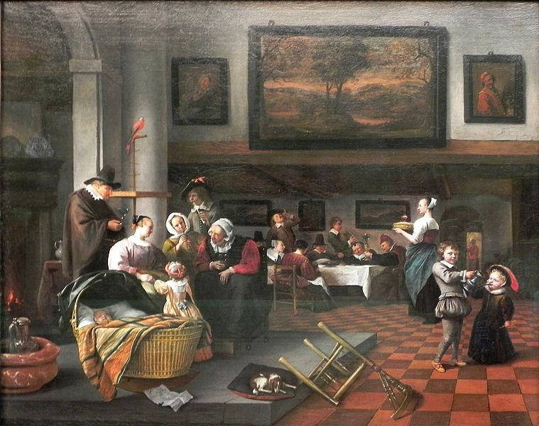 Jan_Steen 1663 ca Die Kindtaufe Gemaldegalerie Alte Meister Berlin