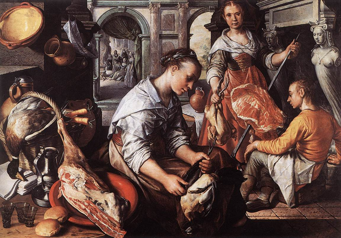 Joachim_Beuckelaer_ 1565 _Christ_in_the_House_of_Martha_and_Mary_Musees Royaux des Beaux-Arts, Brussels