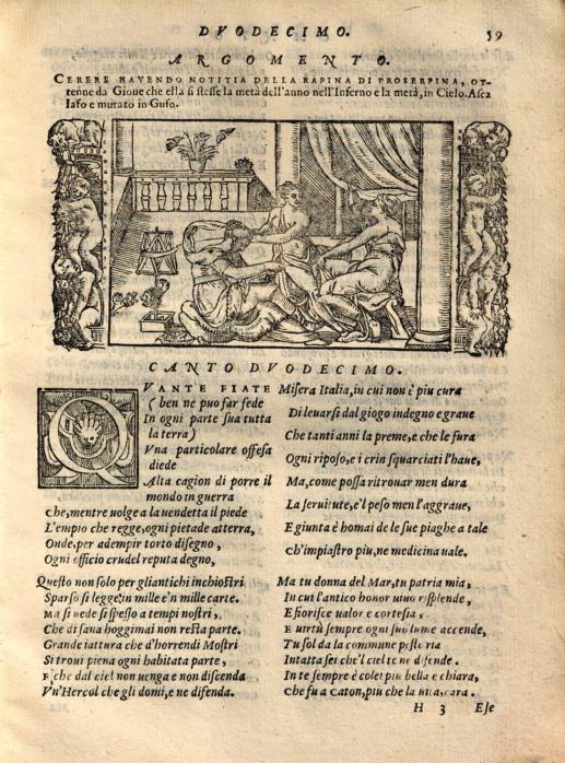 Lodovico Dolce, Le Trasformationi, Venise, Giolito, 1568, p. 59