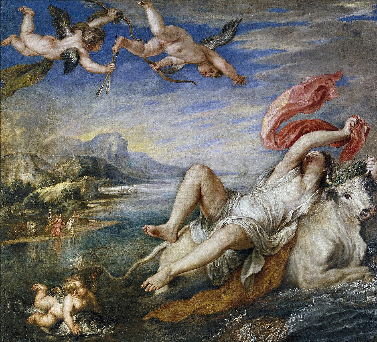 Rubens 1628 d'apres Titien L'Enlevement d'Europe Prado,