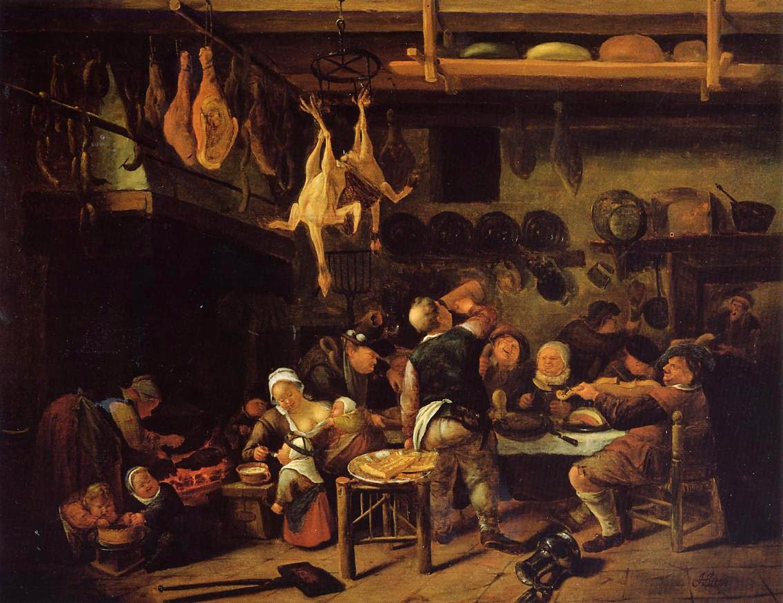 Steen 1650 ca A1 The Fat Kitchen coll priv 91,5 x 71 cm