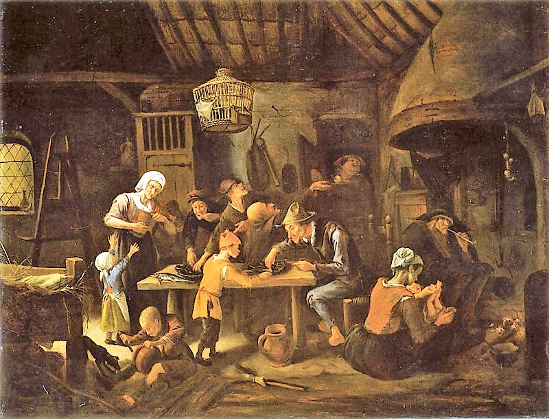 Steen 1650 ca A1 The Lean Kitchen 69.7 x 92 cm National Gallery of Canada, Ottawa