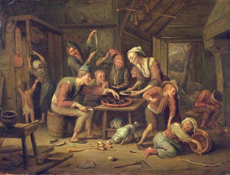 vSteen, Jan, 1625/1626-1679; The Lean Kitchen