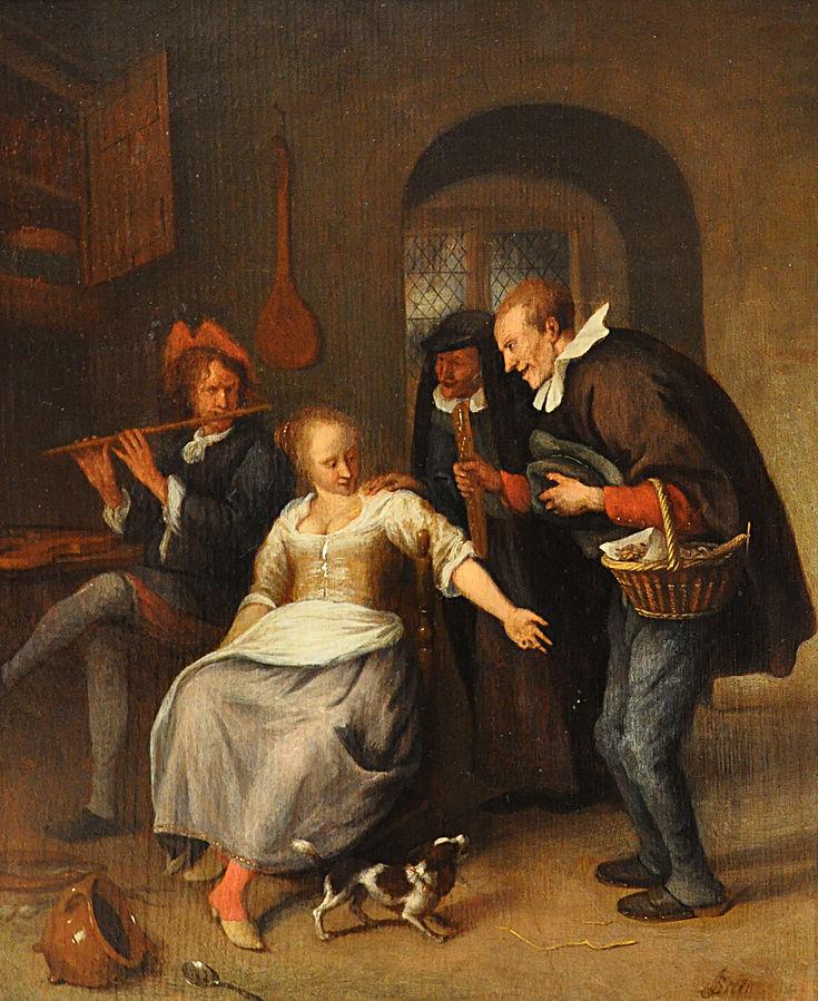 Steen 1660-78 Le marchand d'oublies Musee des BA Rouen