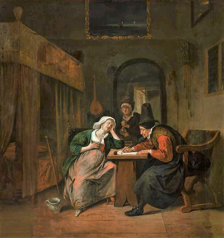 Steen 1662-63 Physician_and_a_Woman_Patient National Gallery, Prague