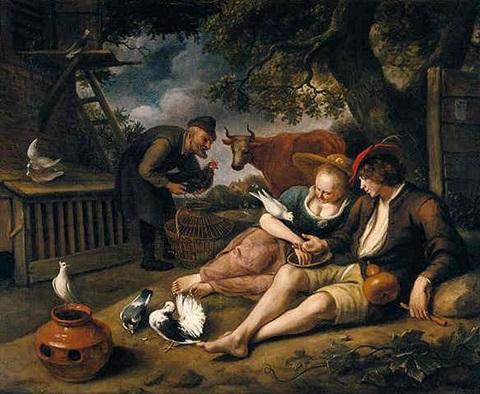 Steen 1664-68 De Duiventil coll priv