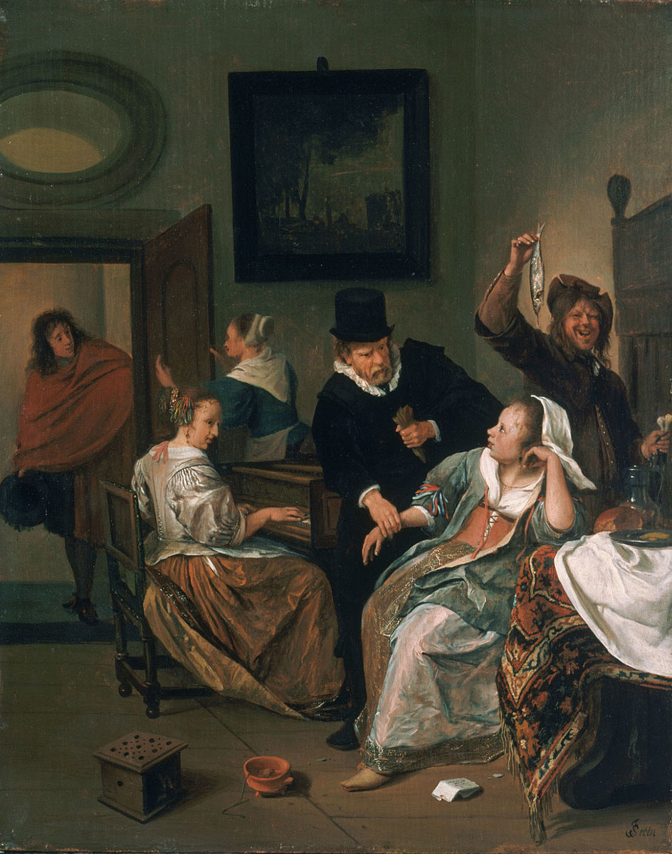 Steen The_Doctor's_Visit Philadelphia_Museum_of_Art