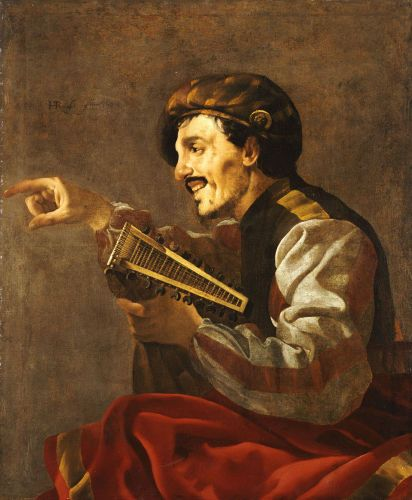 Ter Brugghen 1624 Pointing Lute Player coll priv
