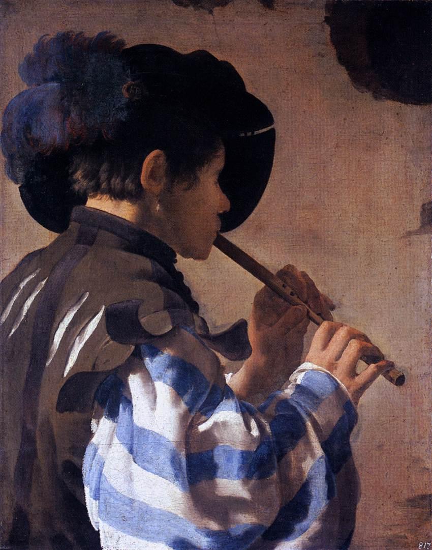 Terbrugghen 1621 Le joueur de flute traversiere Staatliche Museen, Kassel