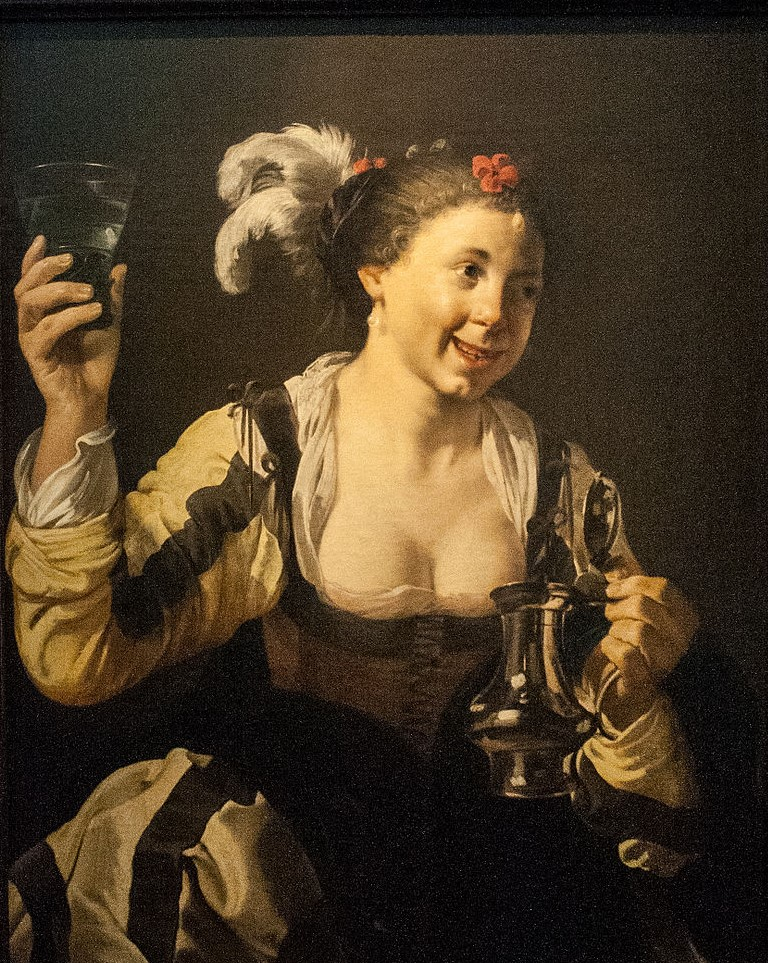 Terbrugghen 1626_A_Girl_Holding_a_Glass Taste Stockholm National museum