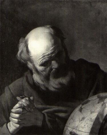Van Baburen 1622 Heraclitus coll part 71.1 x 57.2 cm