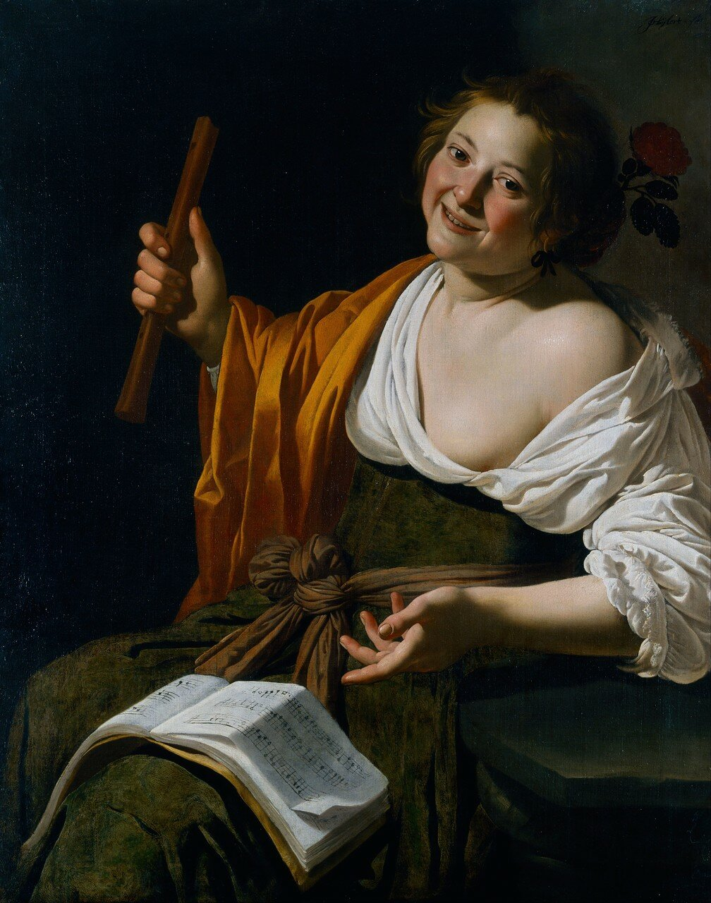 Van Bijlert 1630 ca Paysanne jouant de la Flute Art Gallery of New South Wales