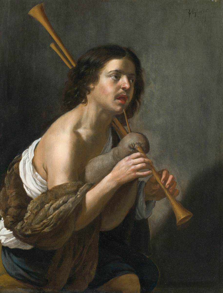 Van Bijlert 1635-45 Joueur de cornemuse coll priv