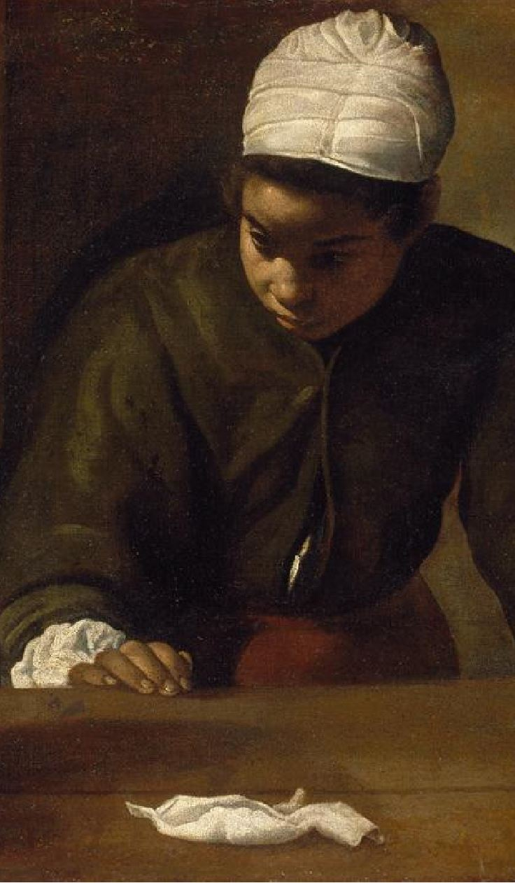 Velasquez 1617-23 La mulata National Gallery of Ireland Dublin detail mouchoir
