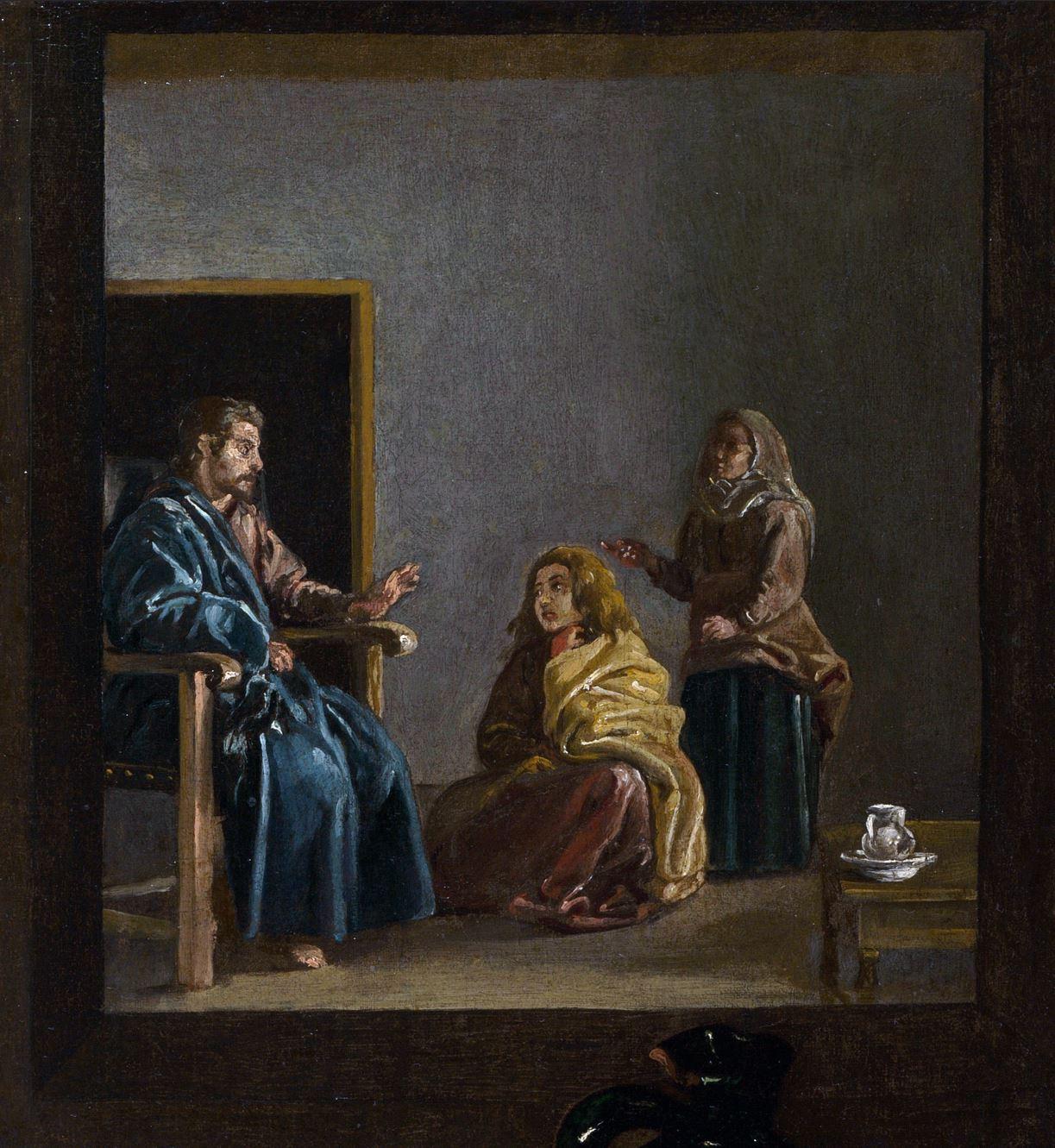 Velasquez 1618 Cristo_en_casa_de_Marta_y_Maria detail