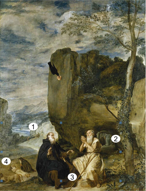 Velazquez 1635-38 San_Antonio_Abad_y_San_Pablo,_primer_ermitano_Prado) schema