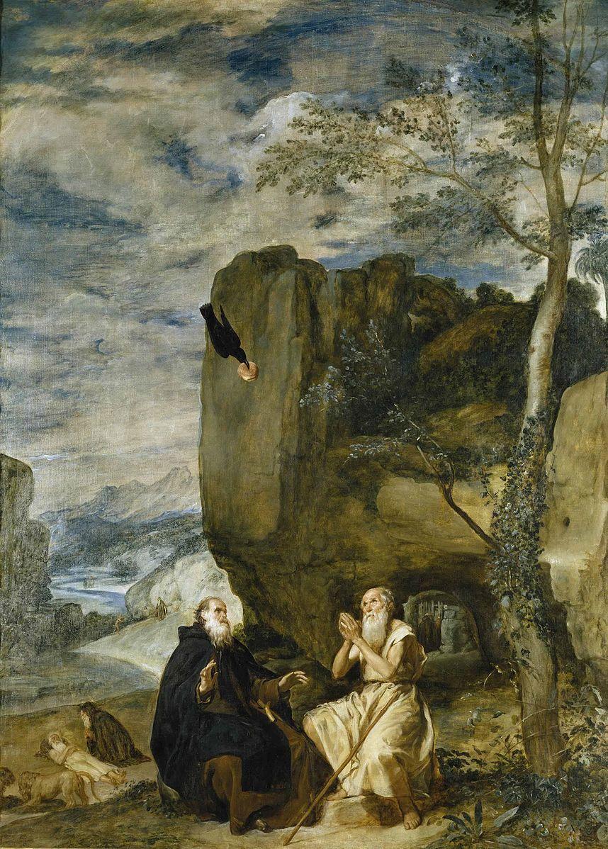 Velazquez 1635-38 San_Antonio_Abad_y_San_Pablo,_primer_ermitano_Prado)