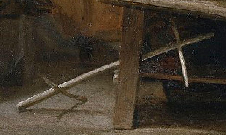 Velazquez 1657 las_hilanderas Prado detail devidoir