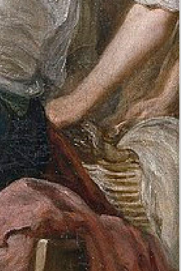 Velazquez 1657 las_hilanderas Prado detail panier